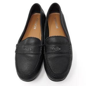 Coach Odette Pebbled Leather Loafer